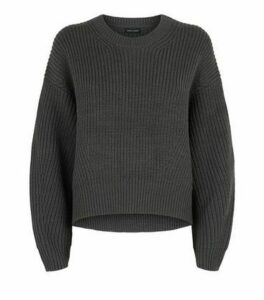 Dark Grey Crew Neck Jumper New Look