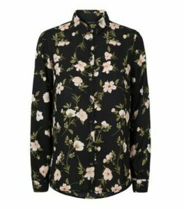 Black Floral Long Sleeve Shirt New Look