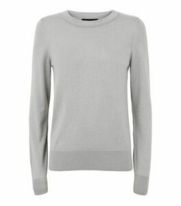 Pale Grey Fine Knit Crew Neck Jumper New Look