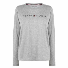 Tommy Bodywear Long Sleeve Logo T Shirt - Grey Heather