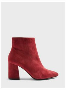 Womens Wide Fit Abit Burgundy Pointed Ankle Boots, BURGUNDY