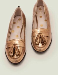 Peggy Loafers Gold Women Boden, Gold