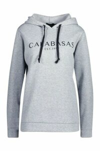Womens Calabasas Sweat Hoody - grey - 10, Grey
