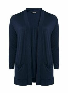 Navy Blue Jersey Cardigan, Navy