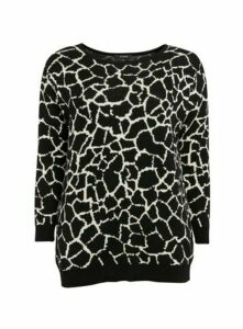 Black Animal Print Jumper, Black