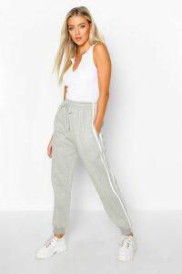 Womens Double Side Stripe Jogger - Grey - 16, Grey