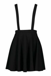 Womens Basic Jersey Pinafore Skirt - black - 16, Black
