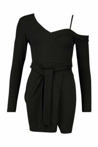 Womens Bodycon Blazer Dress - black - 16, Black