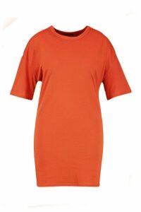 Womens Plus Oversized Drop Armhole T-Shirt Dress - orange - 22, Orange