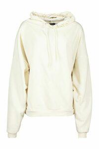 Womens Premium Extreme Oversize Back Print Hoodie - white - L, White