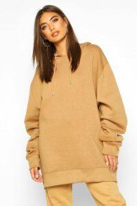 Womens Extreme Oversized Hoodie - beige - 14, Beige