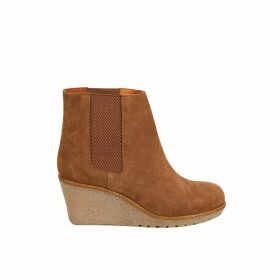 Cortland Wedge Heel Leather Boots