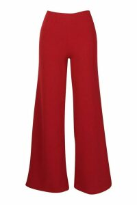 Womens Tall Wide Leg Woven Trousers - red - 12, Red