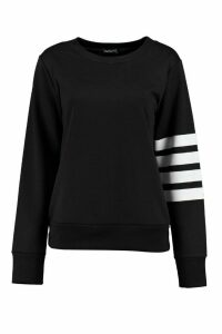 Womens Athleisure Running Sweat Top - black - 10, Black