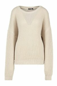 Womens Tall Crew Neck Jumper - beige - S, Beige