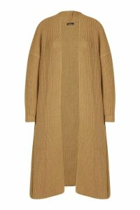 Womens Tall Soft Knit Maxi Cardigan - Beige - S/M, Beige