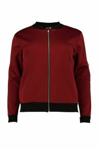 Womens Plus MA1 Bomber - red - 20, Red
