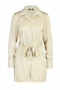 Womens Tall Blazer Playsuit - beige - 12, Beige