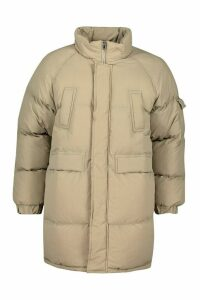 Womens Tall Lined Padded Coat - White - 14, White