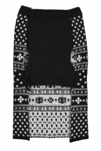 Womens Fairisle Christmas Dog Jumper - black - M, Black