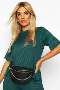 Womens Plus Oversized Side Split Jumbo Rib Tee - Green - 20, Green