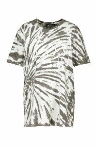 Womens Tie Dye Los Angeles T-Shirt - grey - S, Grey