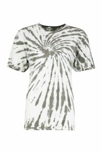 Womens Tie Dye Back Print New York T-Shirt - grey - M, Grey