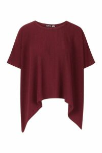 Womens Soft Rib Swing Top - red - 6, Red