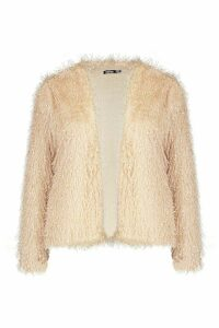 Womens Feather Knit Cardigan - beige - 16, Beige