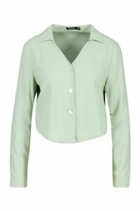 Womens Woven Shirt - green - 14, Green
