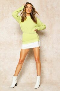 Womens Oversized Jumper - soft lime - M, Soft Lime