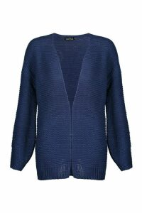 Womens Oversized Boxy Cardigan - navy - M, Navy