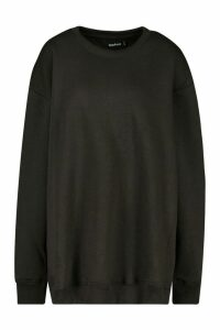 Womens The Basic Boyfriend Sweatshirt - Black - 8, Black