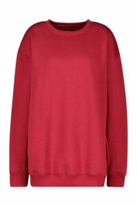Womens The Basic Boyfriend Sweatshirt - red - 10, Red