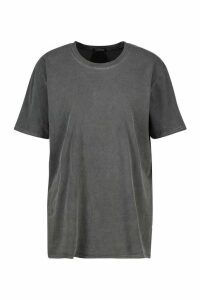 Womens Washed Effect T-Shirt - Grey - Xl, Grey