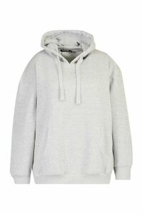 Womens Plus Basic Pocket Hoody - grey - 20, Grey