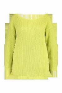 Womens Plus Slash Neck Longline Jumper - soft lime - 20, Soft Lime