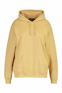 Womens Plus New Season Fit Back Slogan Hooded Sweat - beige - 16, Beige