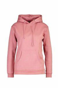 Womens Kangaroo Pocket Hoodie - pink - M, Pink