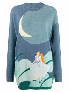 JC de Castelbajac Pre-Owned 1990s Thumbelina jumper - Blue