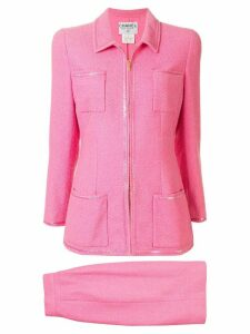 Chanel Pre-Owned 1995's Setup suit jacket skirt - PINK
