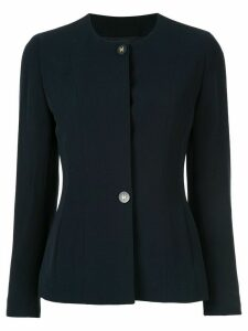 Chanel Pre-Owned 1994 CC button jacket - Blue