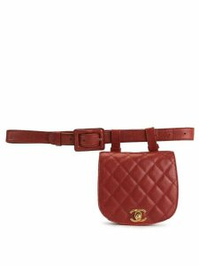 Chanel Pre-Owned 1990s quilted CC belt bag - Red