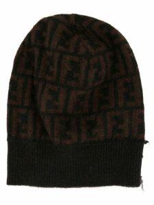 Fendi Pre-Owned Zucca pattern beanie - Brown