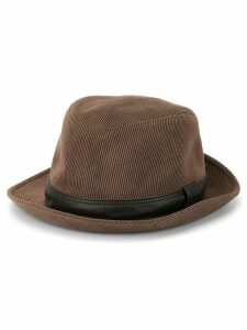 Hermès Pre-Owned corduroy fedora hat - Brown