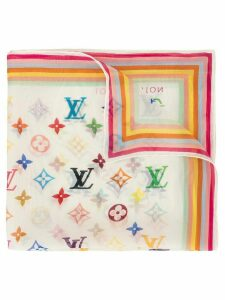 Louis Vuitton Pre-Owned monogram handkerchief scarf - White