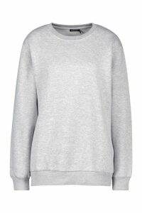 Womens Oversized Sweatshirt - grey - M, Grey