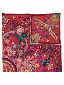 Hermès Pre-Owned L'Arbre du Vent women's scarf stole - Red
