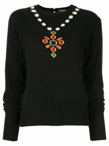 Chanel Pre-Owned 1995 intarsia knit jumper - Black
