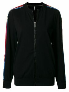 No Ka' Oi side-stripe zipped jacket - Black